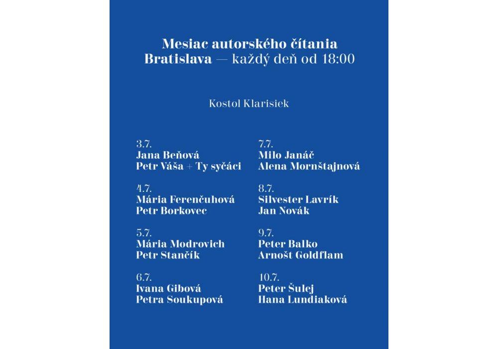 Mesiac autorského čítania v Bratislave - 2
