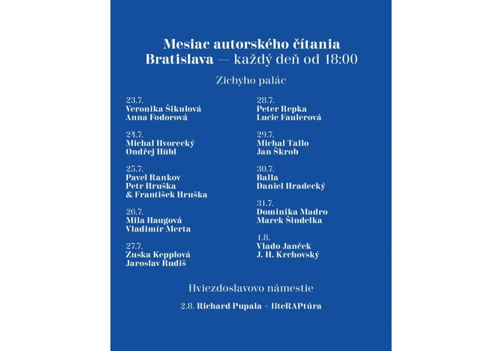 Mesiac autorského čítania v Bratislave - 0