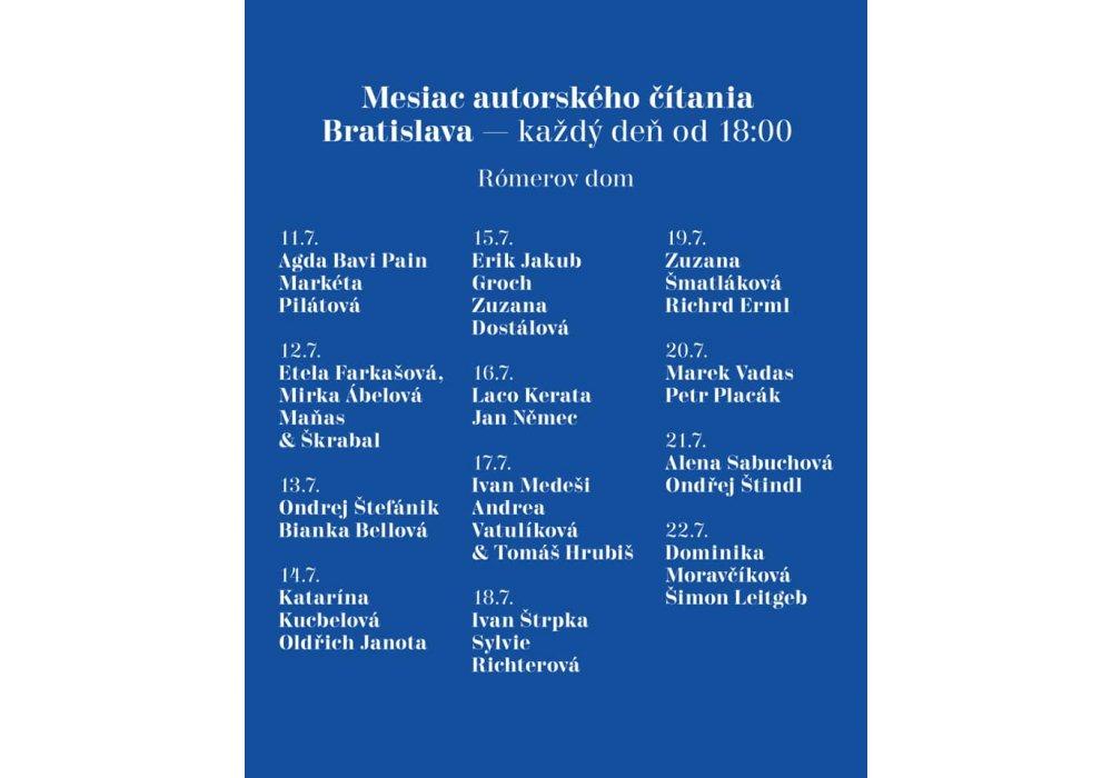 Mesiac autorského čítania v Bratislave - 1