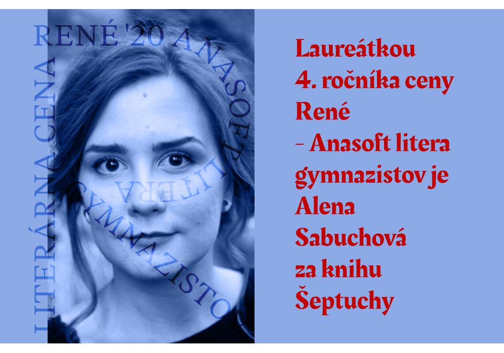 Alena Sabuchová je štvrtou laureátkou ceny René - 0