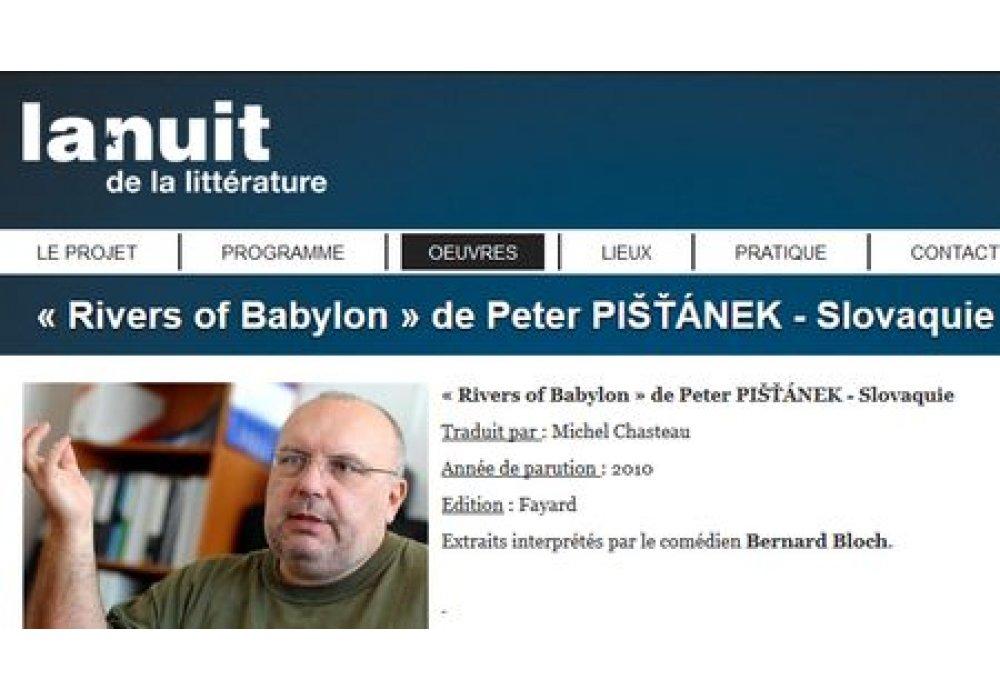 Peter Pišťanek na Noci literatúry v Paríži - 0
