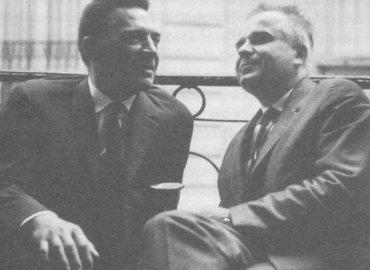 foto z knihy, vľavo Dominik Tatarka