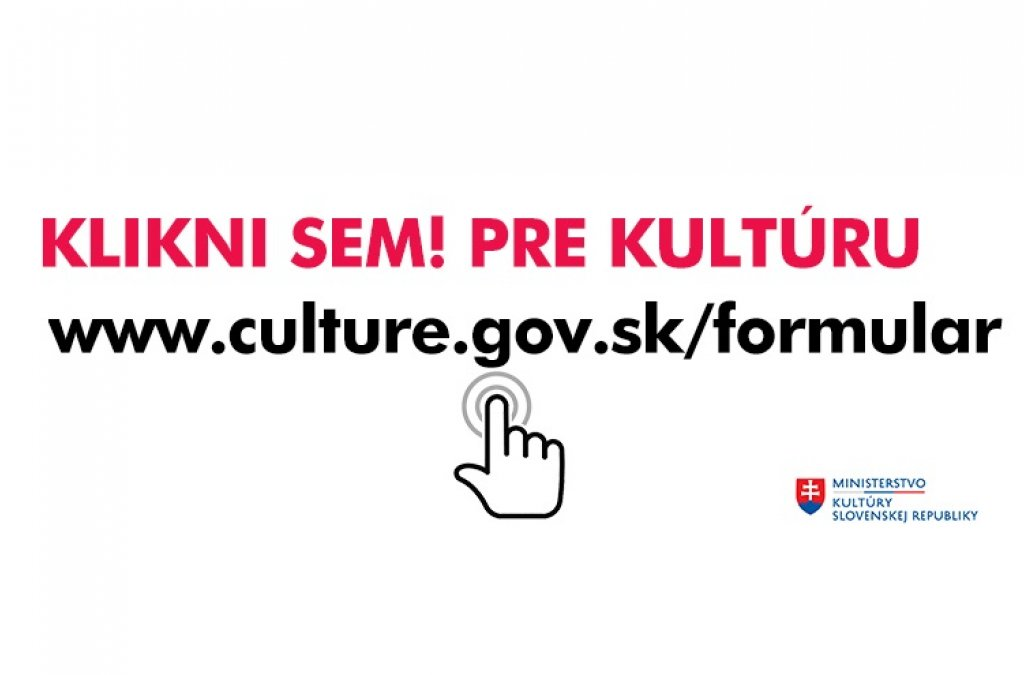 Formulár MKSR pre ľudí pracujúcich v kultúre