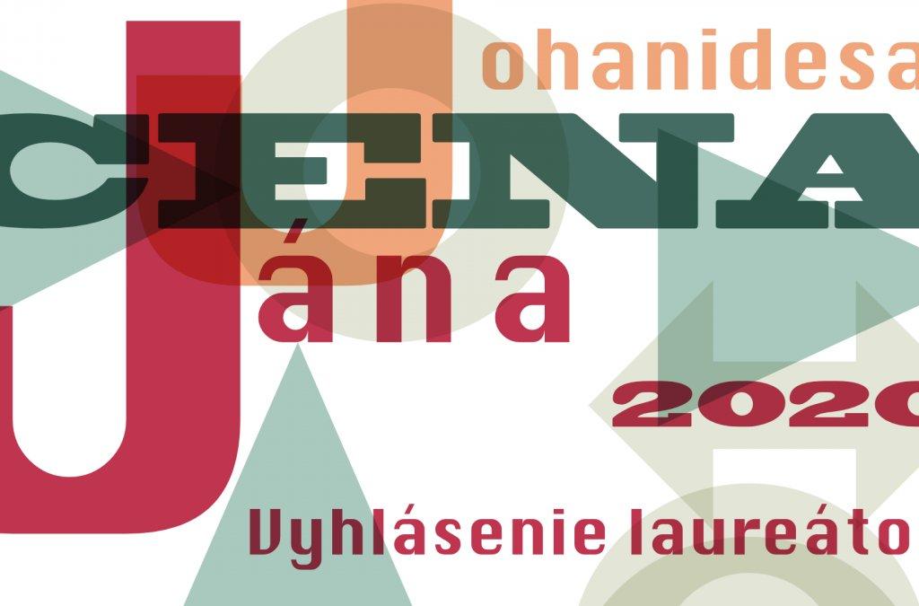 Laureáti Ceny Jána Johanidesa budú vyhlásení online