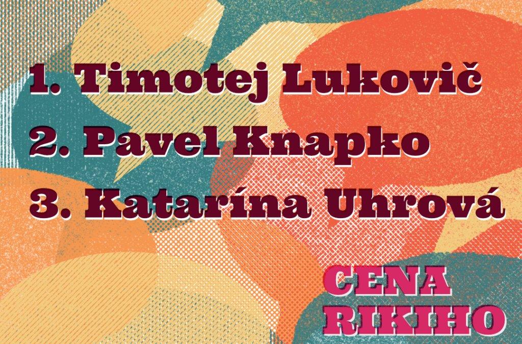 Výsledky 1. ročníka Ceny Rikiho Sepa
