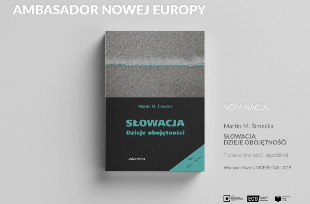 "The Book  ""Among the Slovaks"" is nominated for the prize of the  European Solidarity Center"